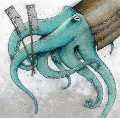 Samurai Octopus by Caitlin Hackett