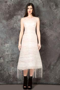 MATTEO THIELA – Large Skirt White Dress  PNP-firenze  #matteothiela #pnpfirenze