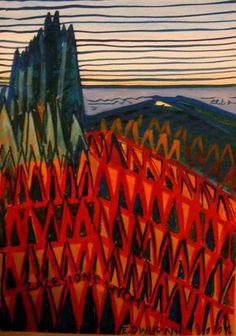 Zalesione wydmy w Łebie