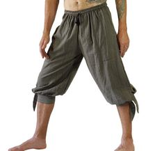 BUCCANEER PANTS Striped GREEN - Steampunk, Pirate Pants, Harem Pants, Medieval Clothing, Renaissance Festival, Burning Man, Larp Costume