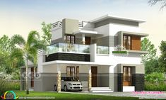 Modern contemporary style 4 bedroom house in an area of 1549 square feet by Rit designers, Kannur, Kerala.