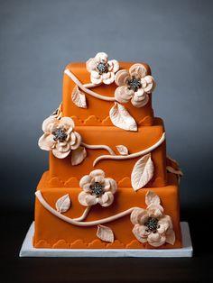 Tangerine Crush | Oklahoma's Premier Wedding Cake Designer and Sugar Artist