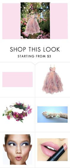 """""""fairy tale prom"""" by bishpleaseimaprincess on Polyvore featuring Marchesa, Rock 'N Rose, Clinique, Fiebiger and Masquerade"""