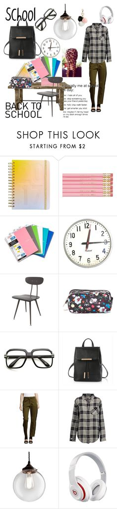 """""""Scool"""" by david111 ❤ liked on Polyvore featuring ban.do, Five Star, LeSportsac, ZeroUV, Public School, Current/Elliott, Old School Electric, Beats by Dr. Dre and GUESS"""
