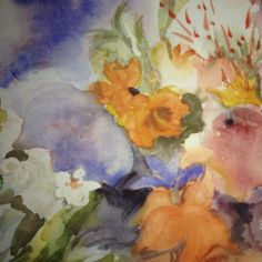 Water colors: flowers