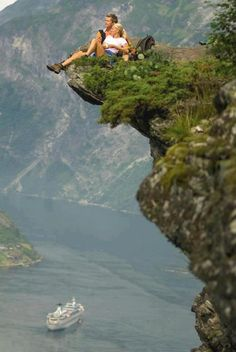 Being in love is like being out on a ledge.... just got to accept the risk. Western part of Norway