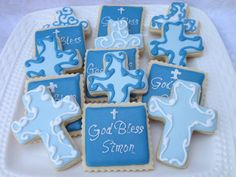Christening Decorated Sugar Cookies