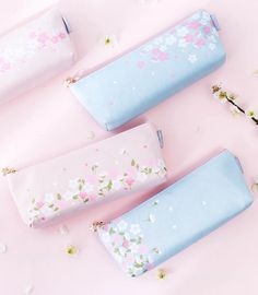 The Sakura Pencil Case reflects the beauty of Japanese springtime cherry blossoms. Carry all your writing tools in style with this pretty canvas pencil case. | Kawaii Pen Shop