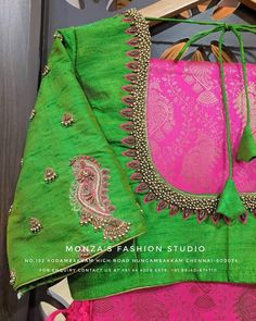 Global market Leader in Ethnic World, we serve End 2 End Customizable Indian Dreams That Reflect with Amazing Handwork & Unique Zardosi Art by Expert Workers. Simple Blouse Designs, Silk Saree Blouse Designs, Bridal Blouse Designs, Blouse Patterns, Maggam Work Designs, Back Neck Designs, Embroidery Designs, Aari Embroidery, Sarees