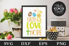 Faith Love Hope (Graphic) by Nerd Mama Cut Files · Creative Fabrica Sayings For Wine Glasses, Mailbox Decals, All Silhouettes, Easter Quotes, Faith In Love, Silhouette Designer Edition, Be My Valentine, Christmas Humor, Svg Cuts