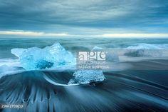 Ice chunks on Jokulsarlon beach, Iceland. © Slawek Staszczuk / age fotostock - Stock Photos, Videos and Vectors