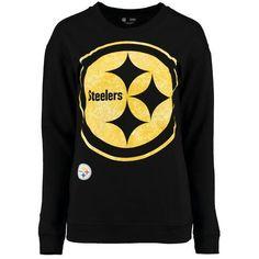 Ocean by New Era Pittsburgh Steelers Women s Black Athletic Fleece Sweater 163023f10
