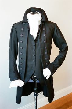 Men's 18th Century Coat vest and undershirt by HollyChohanDesigns