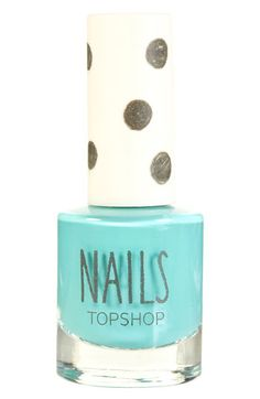 Topshop 'Cream' Nail Polish in pool party $8 at nordstrom