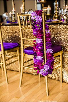 Eastern Indian Wedding Inspiration / Purple and Gold Wedding Inspiration / Cultural Wedding Ideas / Dina Chmut Photography / via StyleUnveiled.com