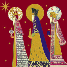 xmas card kings | Shop - Xmas Cards - Three Kings with gold foil