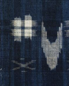 Sri | A Length of Indigo Dyed Kasuri Cotton: Beautifully Hand Spun Yarns