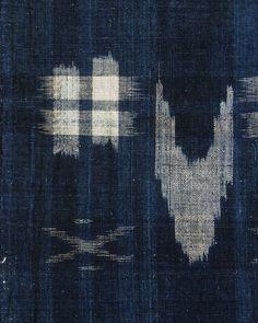 Sri | A Length of Indigo Dyed Kasuri Cotton: Beautifully Hand Spun Yarns