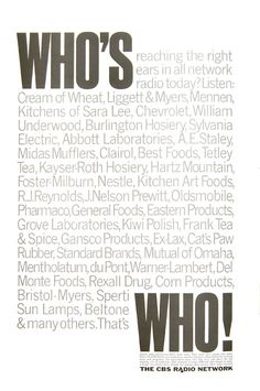 Who's Who by Herb Lubalin