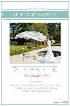 Belle Rose Maison - North Houston Wedding Venue Guide // WoodlandsBride.com
