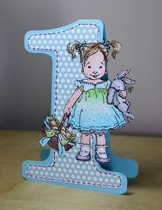 Birthday girl by newkidfish (Cathy A), using penny black stamps and chameleon pens