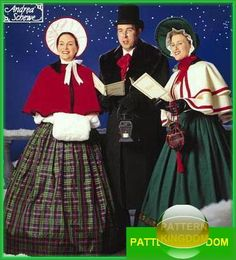 Simplicity 8910 Dickens Victorian Christmas Carolers Patterns
