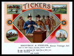 Tickers Vintage Cigar Box Label TruGiclee Print. $18.50, via Etsy.