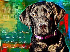 Labrador Retriever Dog Digital Art Print With Quote by ThankDogArt, $5.00