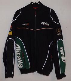 Aprilia Racing Brand. Men's 3XL Winter Jacket RSV4. Alitalia Ads. Nice Condition #ApriliaRacing #Motorcycle