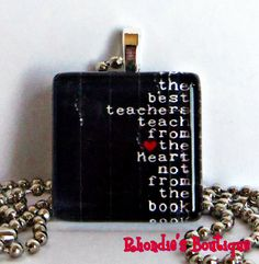 Teach From the Heart by rhondiesboutique on Etsy, $6.00