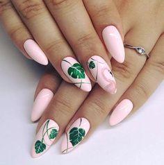 Flamingo Tropical Nail Art Nails - acrylic nails - coffin nails - natural na Bright Nail Art, Bright Summer Nails, Summer Acrylic Nails, Summer Nail Art, Summer Nails 2018, Bright Colors, Tropical Nail Art, Tropical Nail Designs, Indigo Nails