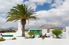 Moonscape Island - Lanzarote in Spain's Canary Islands Canary Islands, Spain Travel, Land Scape, Palm, Building, Outdoor Decor, Instagram, Design, Canoe