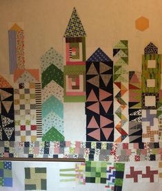 """When I first saw this beautiful quilt made by the amazing JenKingwell, """"my small world"""", splashed all over IG after Spring market, I..."""