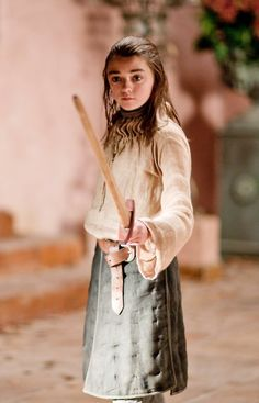 Arya Stark -- one of my favorite characters on Game of Thrones. She reminds me of myself at her age.