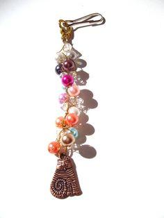 Crocheted Purse Charm, Zipper Pull, Keychain