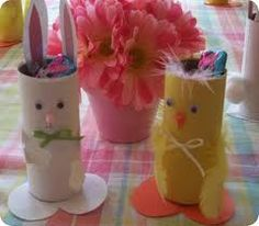 Paper towel roll - easter crafts - so cute