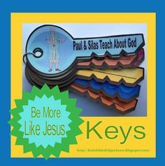 I LOVE this site!!! Great lessons with FREE printables for Sunday School.  I am so happy to have found this.  Bible Fun For Kids: Paul & Silas in Prison