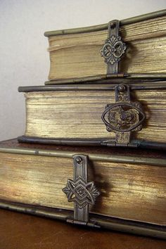 Beautiful clasp on antique books - #WestHouseNY #NYC #Hotel #Antiques #Vintage #Books #Clasp
