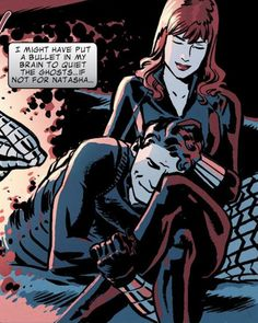 Black Widow/Winter Soldier = MY OTP. From Captain America and Bucky: The Life Story of Bucky Barnes.