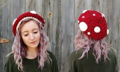 Crochet hats 562105597244835894 - Source by hosenstall Mushroom Hat, Crochet Mushroom, Mushroom Costume, Crochet Gifts, Cute Crochet, Knit Crochet, Crochet Motif, Chunky Crochet Hat, Knitted Hats