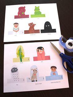Ten Plagues Finger Puppets Printable