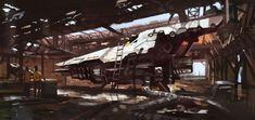 Hangar 02, Adrien Girod on ArtStation at https://www.artstation.com/artwork/YbbP