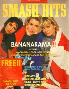 Bananarama Smash Hits cover 7th October 1987 Stock Aitken Waterman Cheer Up