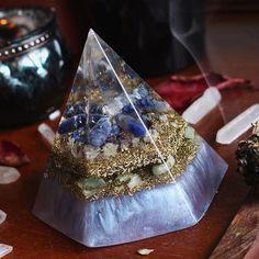 Hexagonal Orgonite Pyramid ~ with Sodalite, Lapis Lazuli, Amethyst, Green Aventurine & Quartz Crystal. Now listed on etsy orgonitefamily.etsy.com ✨ . . . . #orgone #orgonite #pyramid #gemstone #crystal #resin #resinart #indigo #meditation #colorful #peace #wiccan #etsy #earth #smallshop #healing #energy #spiritual #hippie #fengshui #newage #metaphysical #lightworker #orgonitefamily #Emfprotection #prosperity #powerful #sacredgeometry #love #purple