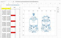 Minions, ME, Excel Arts 3, Ich unverbesserlich als Excel-Chart, ohne Makros und XY-Diagramm mit Linien erstellt