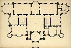 Floor Plan for a Country house, England