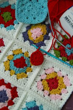 Ravelry: Sweettricot's Patchwork Cushion