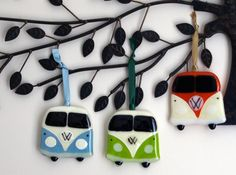 Fused glass VW camper van wall/window hangings