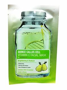2 Mask sheets of Quince Gallus Cell Cell Vitamin C Facial Mask By Watsons Brightening  Radiant 23 ml sheet * Learn more by visiting the image link.