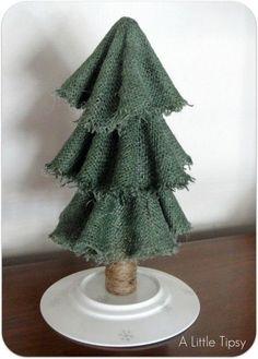 Make Easy Burlap Christmas Trees by arlene